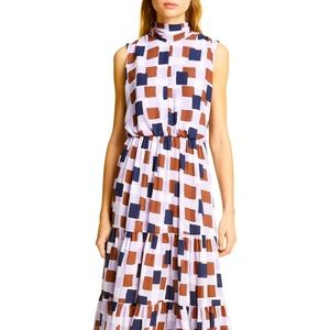 Kate Spade Geo Square Tie Neck Dress NWT